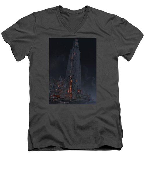 Wonders Lighthouse Of Alxendria Men's V-Neck T-Shirt