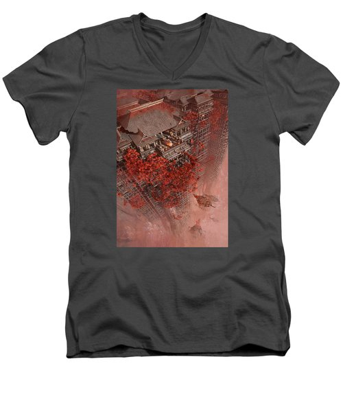 Wonders Liyomizu Men's V-Neck T-Shirt by Te Hu