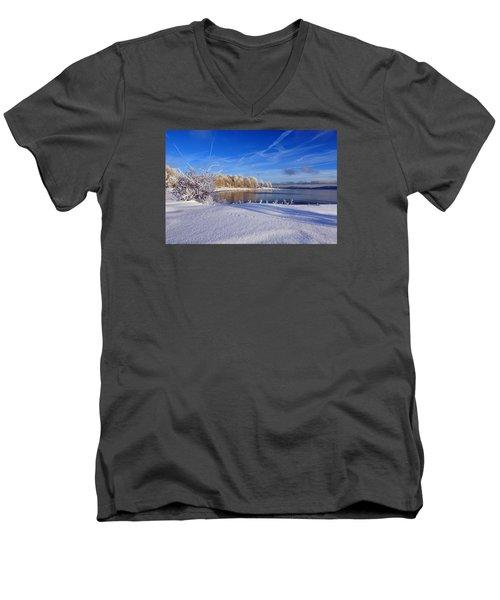 Wondrous Winter Men's V-Neck T-Shirt by Randi Grace Nilsberg