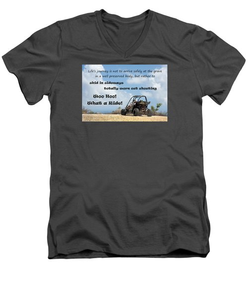 Men's V-Neck T-Shirt featuring the photograph Woo Hoo What A Ride by Karen Lee Ensley
