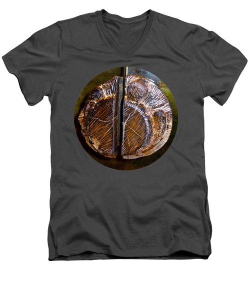 Wood Carved Fossil Men's V-Neck T-Shirt