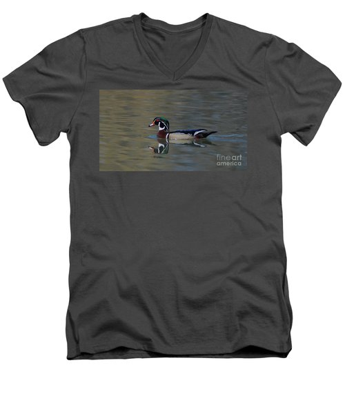 Wood Duck - Male Men's V-Neck T-Shirt