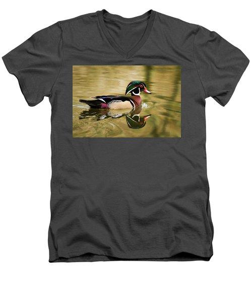 Wood Duck Cruising Men's V-Neck T-Shirt