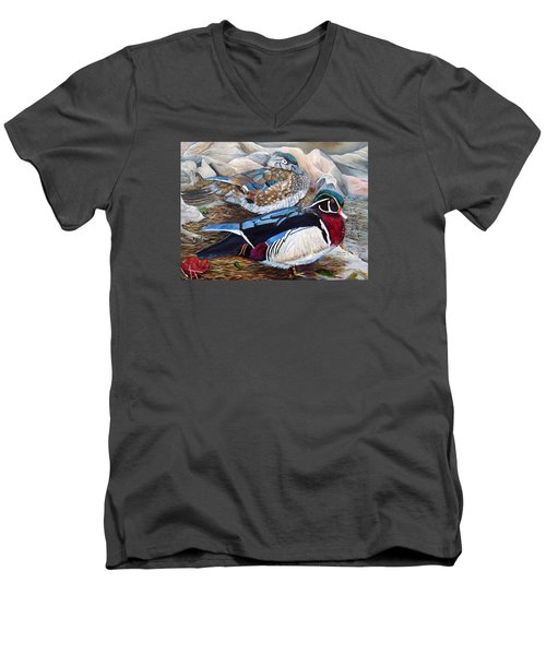 Wood Ducks  Men's V-Neck T-Shirt