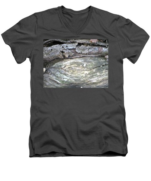 Wood Knot Men's V-Neck T-Shirt by Michele Wilson