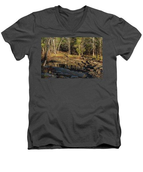 Wooded Backwash Men's V-Neck T-Shirt