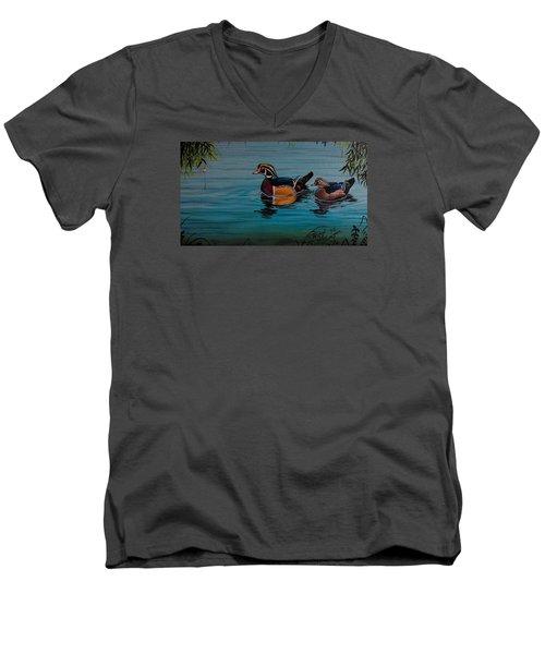 Woodies Men's V-Neck T-Shirt by Michael Wawrzyniec