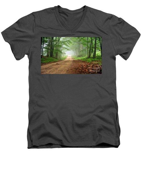 Woodland Journey Men's V-Neck T-Shirt
