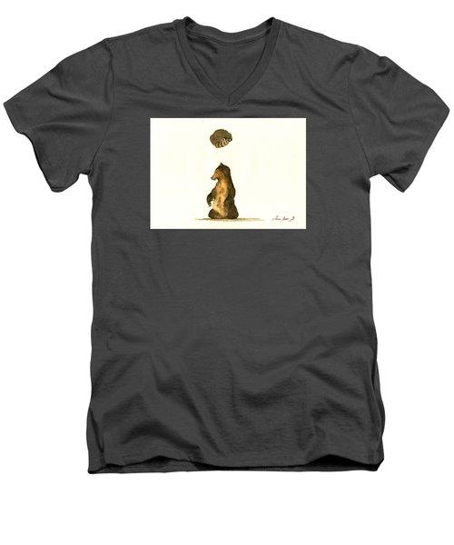 Woodland Letter I Men's V-Neck T-Shirt by Juan  Bosco