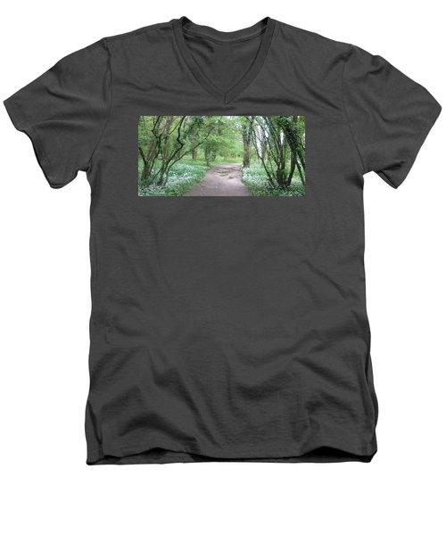 Woodland Path 1 Men's V-Neck T-Shirt
