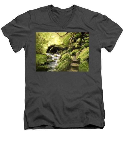 Woodland Steps Men's V-Neck T-Shirt