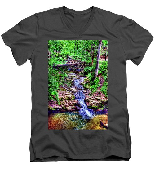 Woodland Stream Men's V-Neck T-Shirt