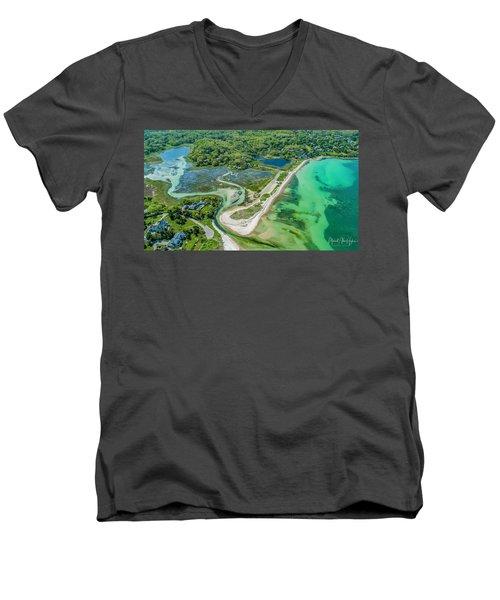 Woodneck Beach At 400 Feet Men's V-Neck T-Shirt
