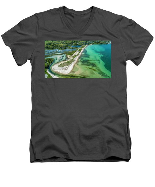Woodneck Beach Men's V-Neck T-Shirt