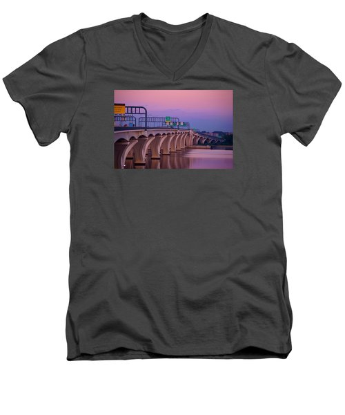 Woodrow Wilson Bridge Men's V-Neck T-Shirt