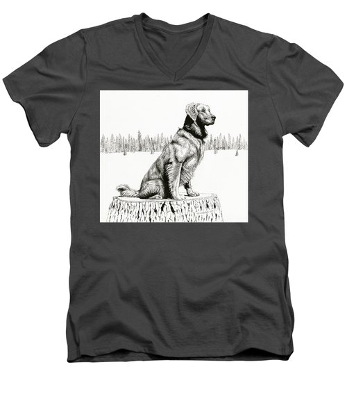 Woods Dog Men's V-Neck T-Shirt