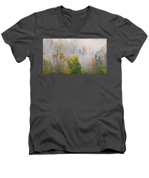 Woods From Afar Men's V-Neck T-Shirt