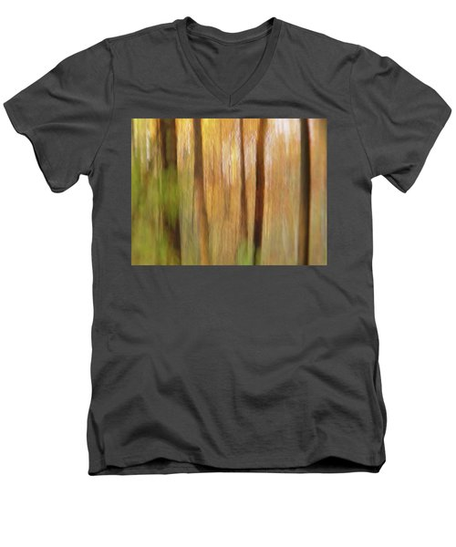 Woodsy Men's V-Neck T-Shirt by Bernhart Hochleitner
