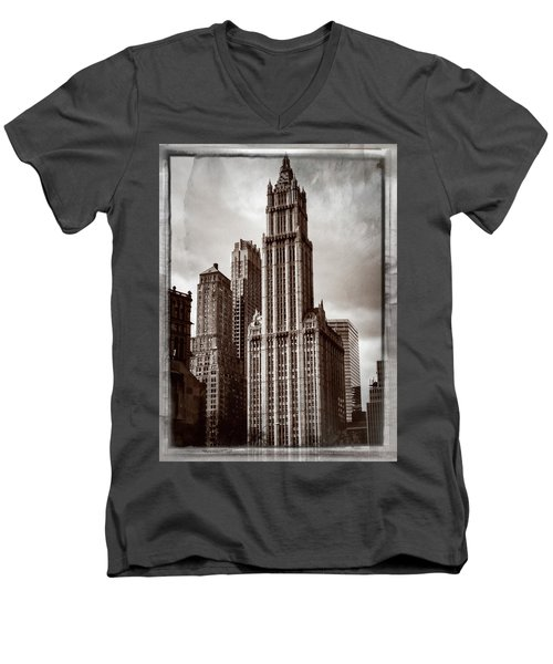 Woolworh Building 2008. Men's V-Neck T-Shirt