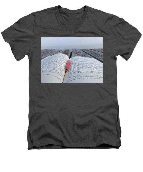 Words On The Dock Men's V-Neck T-Shirt