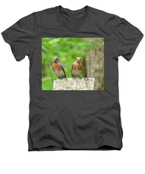 Working Couple Men's V-Neck T-Shirt