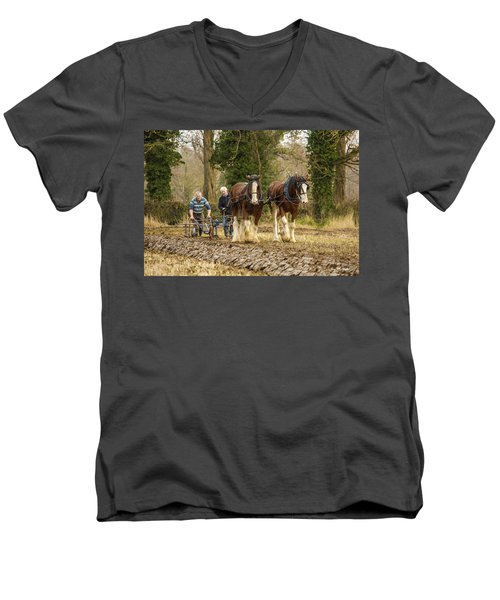 Working Horses Men's V-Neck T-Shirt by Roy McPeak