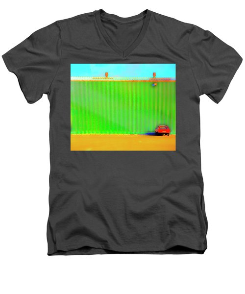 Working Late Men's V-Neck T-Shirt by Jan W Faul