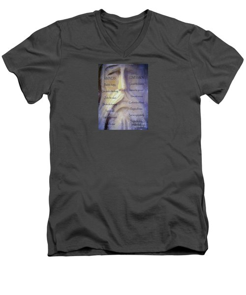 Works Of Mercy Men's V-Neck T-Shirt by Jean OKeeffe Macro Abundance Art