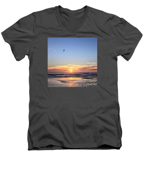 World Gratitude And Peace Day Men's V-Neck T-Shirt by LeeAnn Kendall