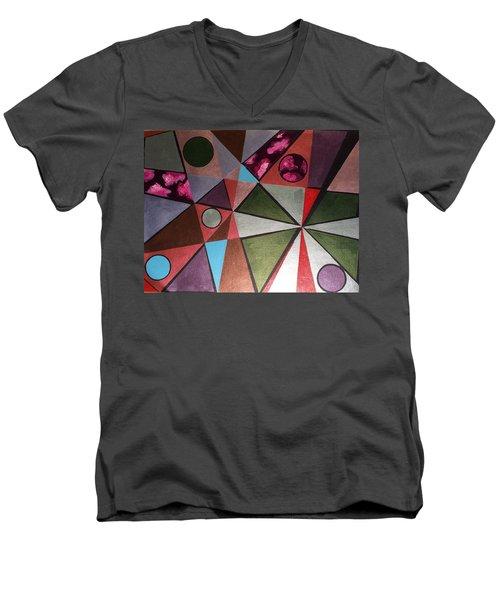 World In Mind Men's V-Neck T-Shirt by Hang Ho