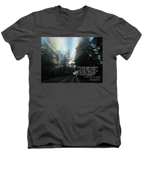 Men's V-Neck T-Shirt featuring the photograph World Kindness Day by Peggy Hughes
