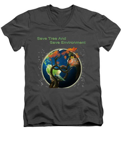 World Needs Tree Men's V-Neck T-Shirt