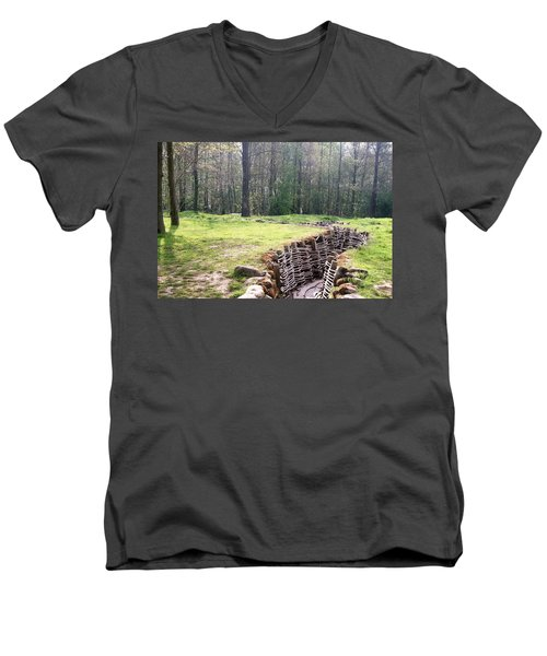 World War One Trenches Men's V-Neck T-Shirt