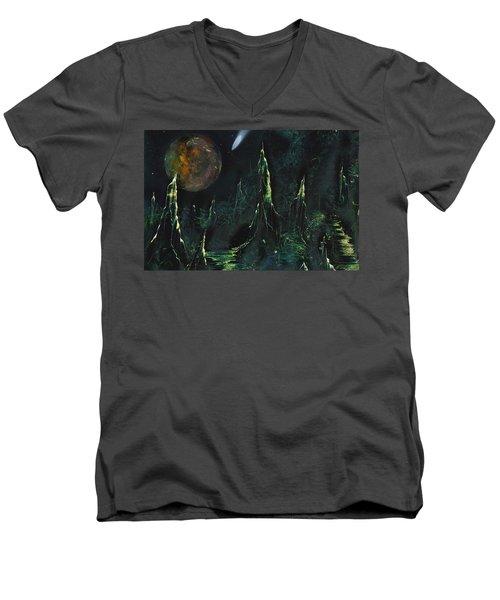 Worlds Away Men's V-Neck T-Shirt