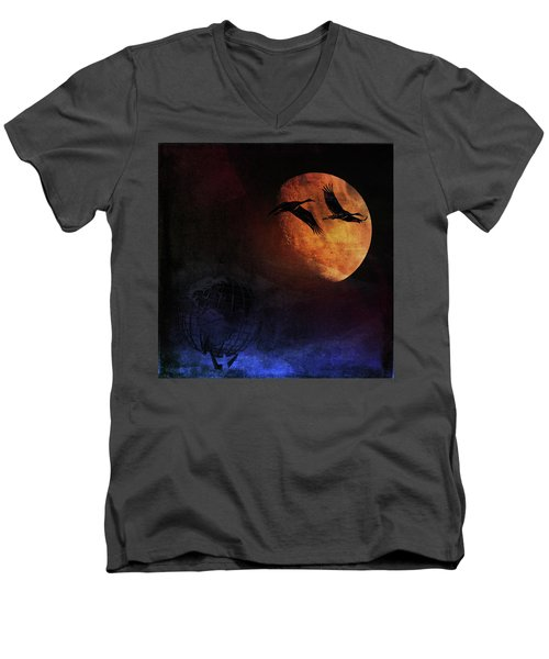 World's Fair Birds Men's V-Neck T-Shirt