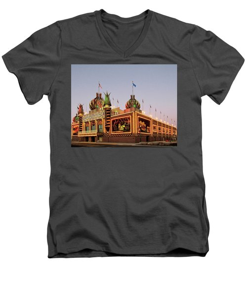 World's Only Corn Palace 2017-18 Men's V-Neck T-Shirt