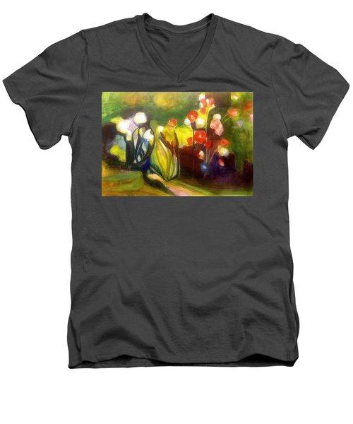 Warm Flowers In A Cool Garden Men's V-Neck T-Shirt