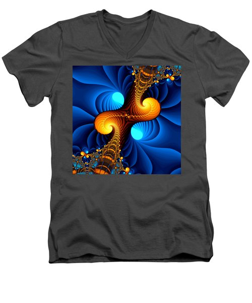 Wormhole Men's V-Neck T-Shirt by Svetlana Nikolova