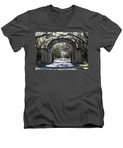 Wormsloe Plantation Gate Men's V-Neck T-Shirt
