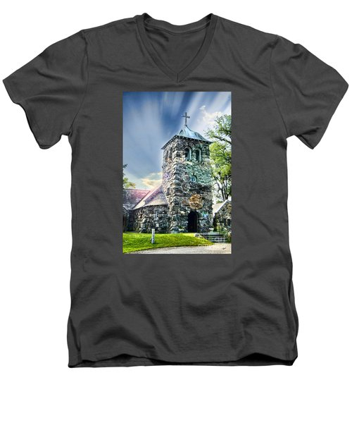 Men's V-Neck T-Shirt featuring the photograph Worship by Alana Ranney