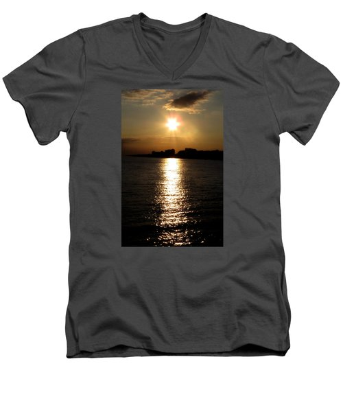 Worthing Sunset Men's V-Neck T-Shirt by John Topman