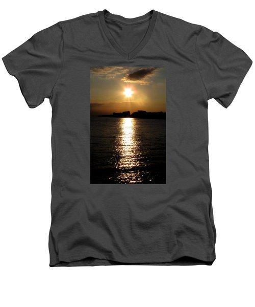 Worthing Sunset Men's V-Neck T-Shirt