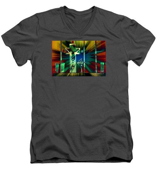 Worthy Is The Lamb Men's V-Neck T-Shirt by Sharon Soberon