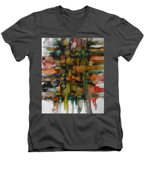 Woven Men's V-Neck T-Shirt by Alika Kumar