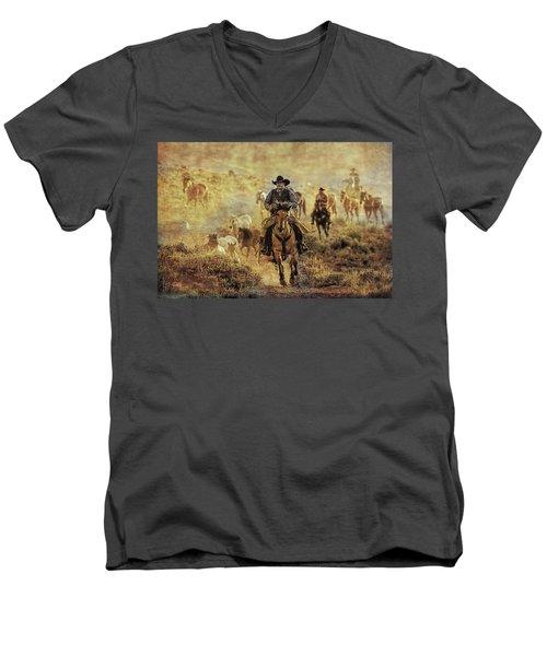 A Dusty Wyoming Wrangle Men's V-Neck T-Shirt