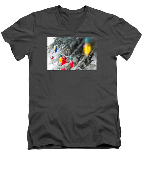 Wrap A Tree In Color Men's V-Neck T-Shirt