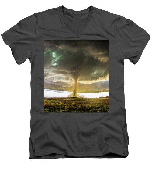 Wray Colorado Tornado 070 Men's V-Neck T-Shirt