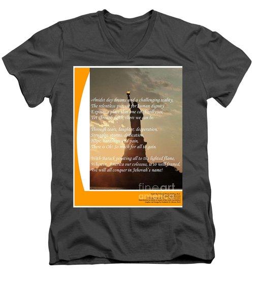 Writer, Artist, Phd. Men's V-Neck T-Shirt by Dothlyn Morris Sterling