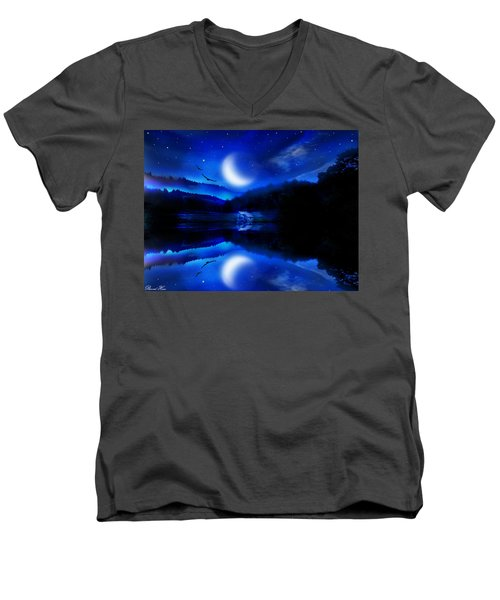 Written In The Stars Men's V-Neck T-Shirt by Bernd Hau