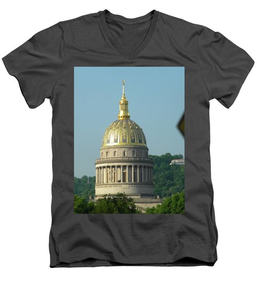 West Virginia State Capital Building  Men's V-Neck T-Shirt